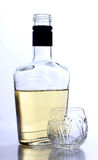 Tequila cup and bottle Stock Image