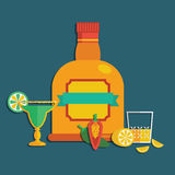 Tequila decoration Royalty Free Stock Photo