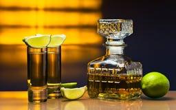 Tequila del oro Imágenes de archivo libres de regalías
