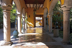 Tequila Distillery Entrance and Courtyard Royalty Free Stock Photography