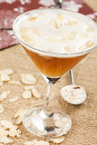 Tequila drink with almonds Stock Photos