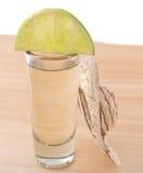 Tequila e calce Fotografie Stock Libere da Diritti