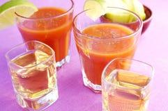 Tequila e Sangrita Imagem de Stock