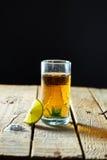 Tequila en citroen Stock Foto's