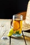 Tequila en citroen Royalty-vrije Stock Foto's