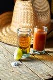 Tequila en citroen Stock Afbeelding