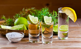 Tequila and gin Royalty Free Stock Photography