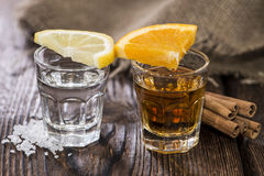 Tequila Gold and Silver Stock Images