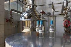 Tequila, Guadalajara, Jalisco, Mexico, July -2015: Process samples of tequila in the distillery Casa Herradura. royalty free stock photos