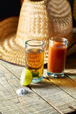 Tequila i cytryna obraz stock