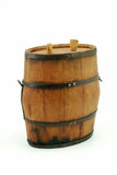 Tequila keg. Close up of mini, handcrafted, wooden tequila keg Royalty Free Stock Photo