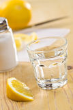Tequila with lemon Royalty Free Stock Images