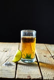Tequila and lemon Stock Photos