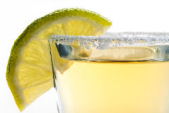 Tequila and lime. On a white background Royalty Free Stock Images