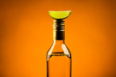 Tequila with lime Royalty Free Stock Image