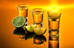 Tequila and lime Stock Image
