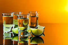 Tequila and lime Royalty Free Stock Photos