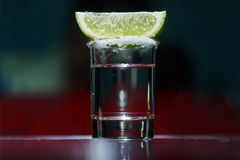 The tequila with lime Royalty Free Stock Photography