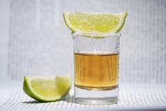 The tequila with lime Royalty Free Stock Image