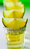 Tequila , lime and salt Royalty Free Stock Photography