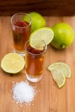 Tequila , lime and salt Stock Image