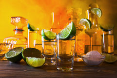Tequila and lime Royalty Free Stock Image