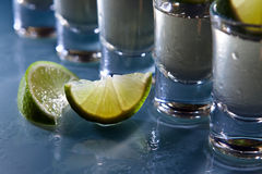 Tequila and lime Royalty Free Stock Photography