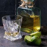 Tequila and limes Royalty Free Stock Image