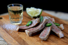 Tequila Marinated Beef Royalty Free Stock Photo