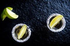 Tequila med citronen royaltyfri bild