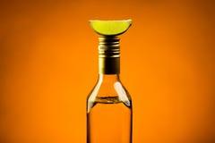Tequila med limefrukt Royaltyfri Bild