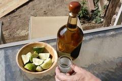 Tequila na tabela. Imagens de Stock Royalty Free