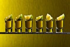 Tequila och limefrukt royaltyfria bilder