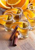 Tequila with orange Stock Photos
