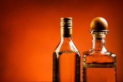 Tequila on red Stock Images