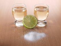 Tequila and salt Stock Photos