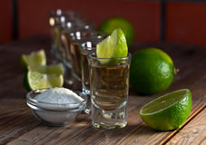 Tequila with salt Stock Photography