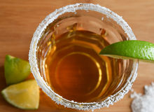 Tequila with salt and lime Royalty Free Stock Images