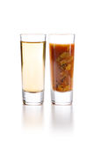 Tequila with Sangrita Chaser Royalty Free Stock Photography