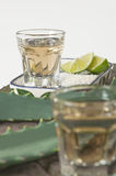 Tequila served shots - selective focus Royalty Free Stock Photos