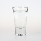 Tequila shot. Glass of silver tequila shot Stock Image
