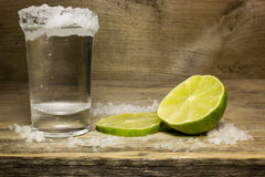 Tequila in a shot glass Royalty Free Stock Image