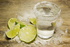 Tequila in a shot glass Royalty Free Stock Images