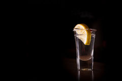 Tequila shot with lemon Royalty Free Stock Photos