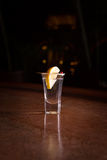 Tequila shot with lemon Royalty Free Stock Image