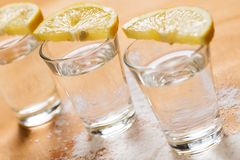 Tequila shots Stock Images