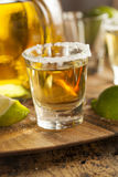 Tequila Shots with Lime and Salt Royalty Free Stock Images