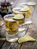 Tequila shots with salt rim Stock Photography