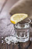 Tequila Silver with lemon and salt Royalty Free Stock Image