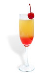 Tequila sunrise. Cocktail isolated on a white stock images